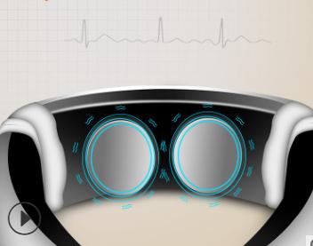 智能颈椎仪充电遥控语音多功能按摩颈肩护颈仪电磁脉冲颈椎理疗仪