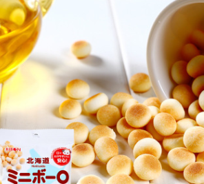 一般贸易日本进口理本北海道小馒头宝宝儿童开胃辅食饼干60g
