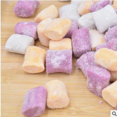 冷冻芋圆1斤 鲜芋仙甜品大芋圆批发成品无糖芋头粉圆三色组合混装