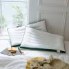 全棉白色夏凉枕酒店宾馆纤维枕成人颈椎低枕芯超柔透气羽丝绒枕芯