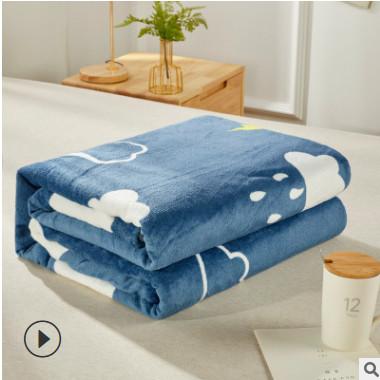 工厂直销法兰绒毛毯 加厚珊瑚绒毯子礼品定制团购双面法莱绒毛毯