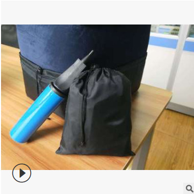 飞机高铁旅行充气脚垫收纳袋 防尘罩 打气筒配件含配件全套脚垫