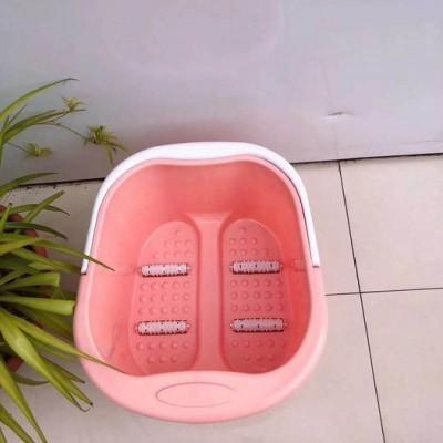 家用塑料泡脚桶 手提轮滑按摩式 加厚加深泡脚盆