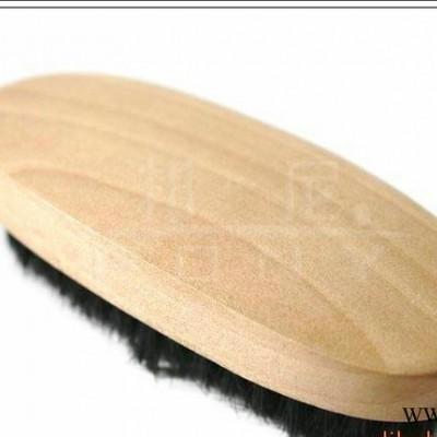 现货 小椭圆形刷 木 黑猪毛鞋刷 鞋护理 不伤鞋(Shoe
