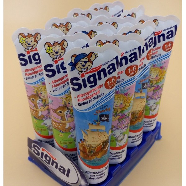 德国原装洁诺signal1-6岁幼儿牙膏儿童口腔护理 可吞食儿童牙膏