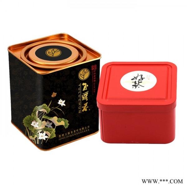 **茶叶包装铁盒批发新款通用茶叶罐马口铁金属包装盒