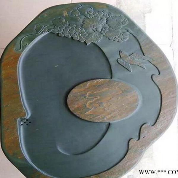 茶盘 直销天然石创意工艺品茶盘 雕刻蘑菇石石器定制