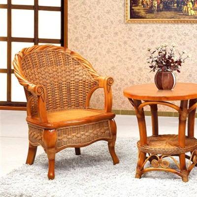 直销 印尼真藤餐椅 阳台咖啡办公茶楼休闲椅 纯手工藤椅