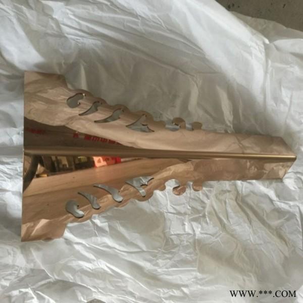 佛山友权直销镜面玫瑰金蛇形茶几脚 3MM实心镂空雕花餐桌脚 不锈钢餐桌脚