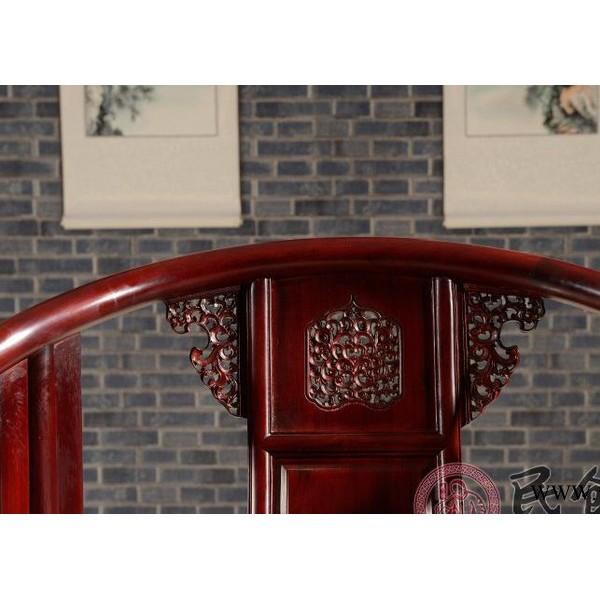 东阳民创红木家具直销非洲酸枝木皇宫椅茶几三件套实木圈椅子