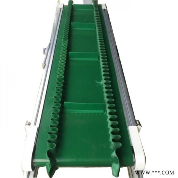可升降防滑传送带 海南裙边茶食品加工输送带 60型皮带输送机