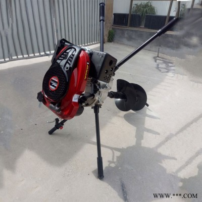 茶园栽种钻孔机 小型钻地机 四冲程50公分直径挖坑机科博机械