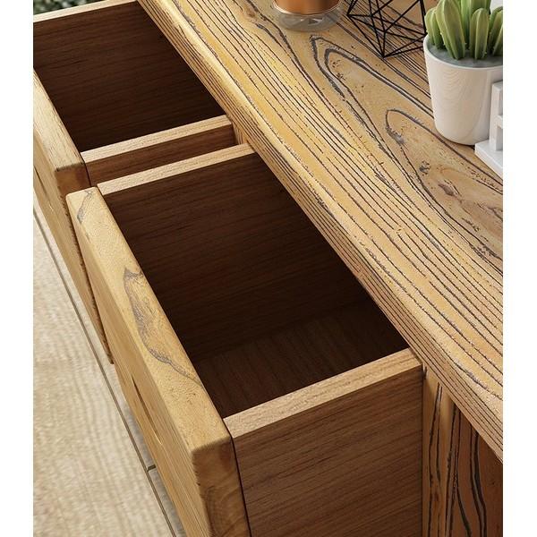 古朴年代老榆木可伸缩电视柜实木家具现代简约多功能新中式小茶几储物地柜