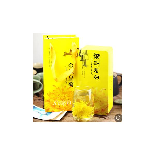 产地货源厂家批发 黄山大朵菊花茶 一朵一杯 20朵礼盒装 金丝皇菊