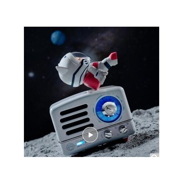 当季新品 猫王收音机x王者荣耀 小王子便携蓝牙音箱迷你小音响可爱复古收音机 潮玩音箱手办礼盒版