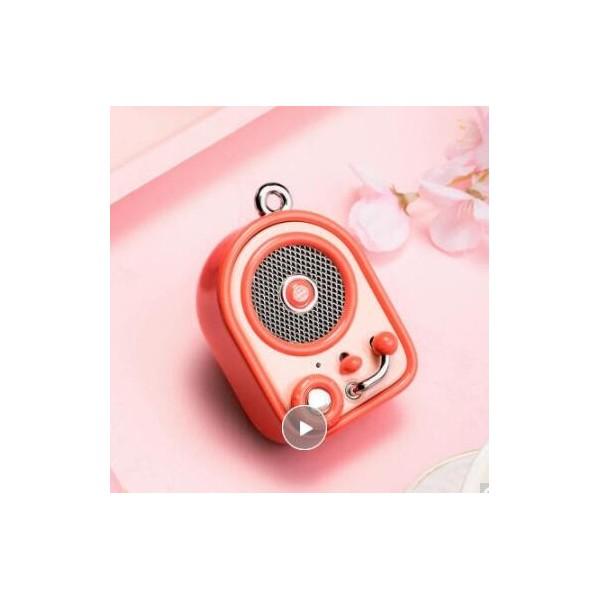 猫王收音机 甜叫兽 便携蓝牙音箱可爱迷你音箱居家户外小音响创意礼品 元气红