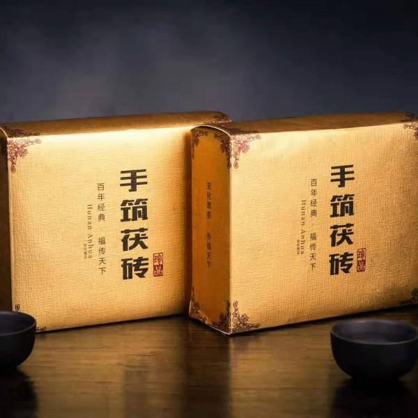安化黑茶手筑茯砖